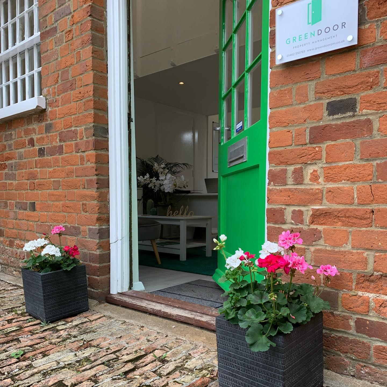 Green Door Office Door